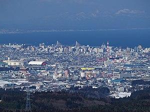 Aomori, Aomori - Image: Aomori city from Hakkoda