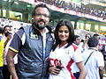 Apoorva Lakhia and Priyamani at CCL match, 2011.jpg