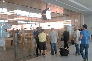 Apple Watch - An Apple Store opens its doors on the first day of sales of the Apple Watch.