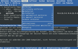 Package manager - Image: Aptitude 0.4.11.3 de