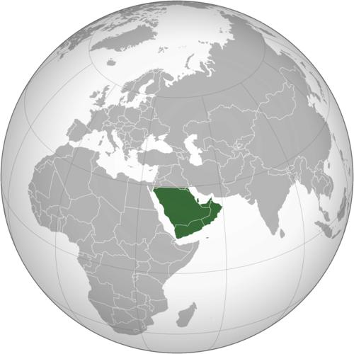 خريطة شبه الجزيرة العربية المكتبة الرقمية العالمية