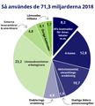 Arbetsförmedlingens användning av budgeten 2018.png