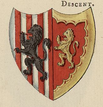 Owain Glyndŵr - Glyndwr's Coats of Arms; from A Tour in Wales by Thomas Pennant (1726–1798) that chronicle the three journeys he made through Wales between 1773 and 1776.