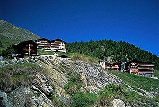 Arolla village in Switzerland