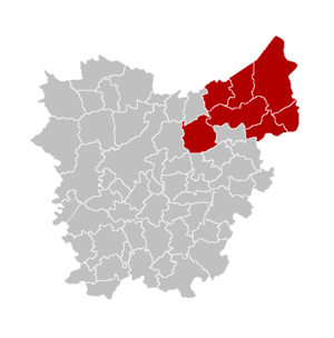 Arrondissement of Sint-Niklaas - Image: Arr Sint Niklaas Locatie