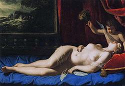 Artemisia Gentileschi: Venus and Cupid