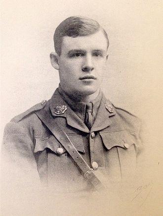 Arthur James Dingle - Dingle in army uniform, 1914