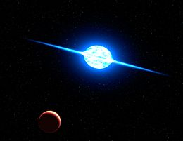 Artist's impression of the fastest rotating star.jpg