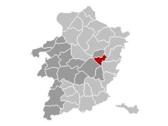 As, Belgium - Image: As Limburg Belgium Map