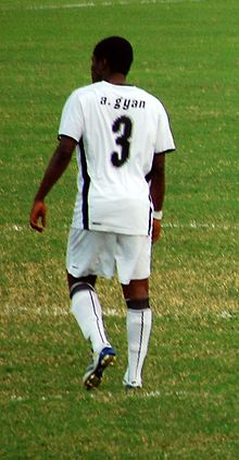 283e55d28 Gyan playing for Ghana in 2008