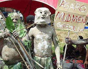 Asaro Mudmen, Port Moresby Cultural show