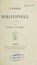 Charles Asselineau: L'Enfer du bibliophile
