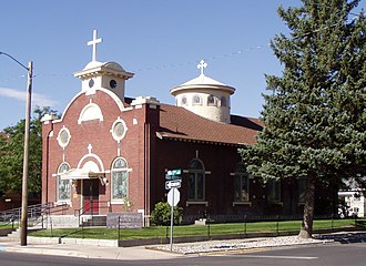 National Register of Historic Places listings in Bannock County, Idaho - Image: Assumption Church Pocatello