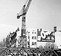 Astoria kereszteződés a Rákóczi út felé nézve, az aluljáró építésénél felhasznált Zagyva híddal. Fortepan 17056.jpg