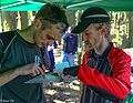 At the Bc Orienteering Championships on Sumas Mountain in the Fraser Valley - Thomas and Magnus discussing route choices - (28021957924).jpg