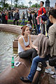 At the fountain, on Pushkin Square. (7188963996).jpg