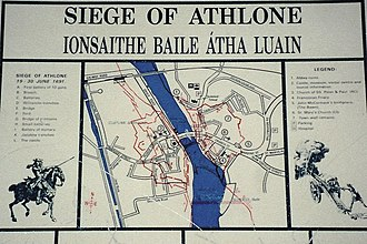 Siege of Athlone - Image: Athlone Siege of Athlone sign geograph.org.uk 1606882