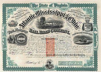 Atlantic, Mississippi and Ohio Railroad - Image: Atlantic, Mississippi & Ohio RR 1871