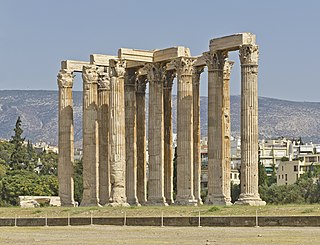 Temple of Olympian Zeus, Athens Ancient Greek temple in Athens