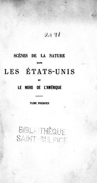 File:Audubon - Scènes de la nature, traduction Bazin, 1868, tome 1.djvu