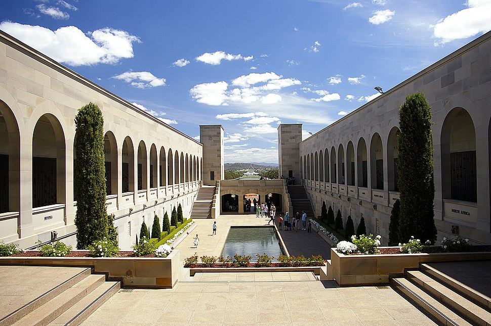 Australian War Memorial courtyard