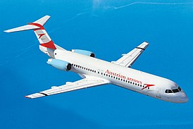 Fokker 100 авиакомпании Austrian Arrows