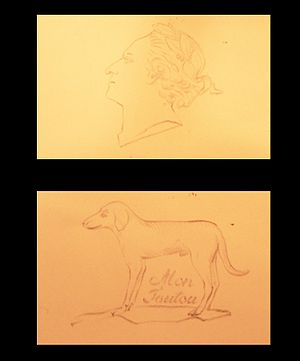 Jaquet-Droz automata - Two of the drawings that can be made by the draughtsman