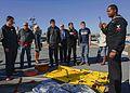 Aviation Boatswain's Mate 3rd Class Christopher Innocent displays flight deck tools 141226-N-JF151-199.jpg