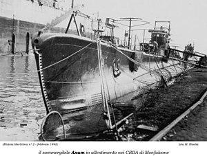 Italian submarine Axum - RIN Axum