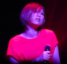 Description de l'image Ayaka perfoming in Matsuyama during her 2012 tour.tiff.