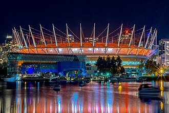 BC Place - Exterior view of the stadium after its renovation, November 2014