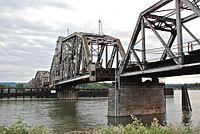 BNSF Bridge 9.6 swing span turned slightly.jpg