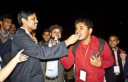 BNWIKI10-Jayanta Nath and Prachatos-Wikipedia 10th Anniversary Celebration