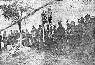 Jovan Babunski - Babunski's Chetniks by his grave.