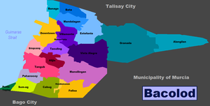 Bacolod City District Map