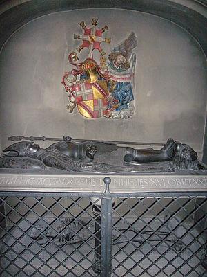 Frederick IV of Baden - The grave of Frederik van Baden in the Stiftskirche in Baden-Baden