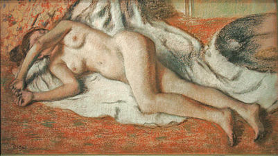 Baigneuse allongée dEdgar Degas (Musée dOrsay) (3210105105).jpg