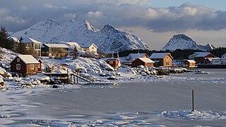 Ballstad Village in Northern Norway, Norway