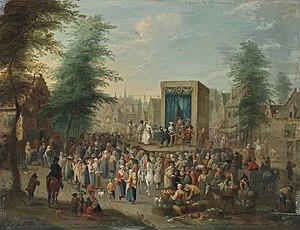 Balthasar Beschey - La Commedia dell'Arte