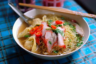 Char siu - Char siu is often served in a noodle soup as here in Chiang Mai, Thailand