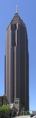Bank of America Plaza from North Ave near old Wacovia Building garage.JPG