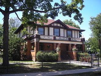 Arlington Heights, Illinois - The Nathaniel Moore House is on the National Register of Historic Places.