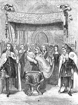 Frederick the Great - Baptism of Frederick, 1712 (Harper's Magazine, 1870)