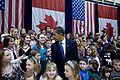 Barack Obama with children of American Embassy workers in Ottawa 2-19-09.JPG