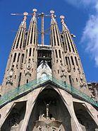 Barcellona sagrada familia front