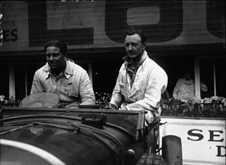 1929 24 Hours of Le Mans - Winners Woolf Barnato and Henry Birkin after the race