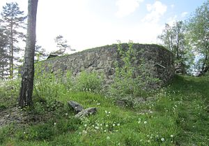 Basmo Fortress - Stone base of former tower