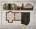 Bath at Lipari, Rome; floor plan and cross sections of the b Wellcome V0014418.jpg