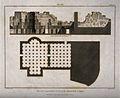 Bath at Lipari, Rome; floor plan and cross sections of the b Wellcome V0014418.jpg