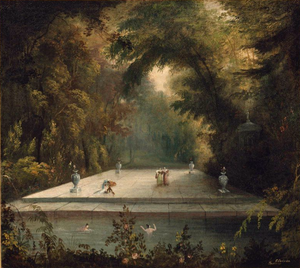 Charles Codman - Bathing Pool c.1830, now in the Museum of Fine Arts, Boston